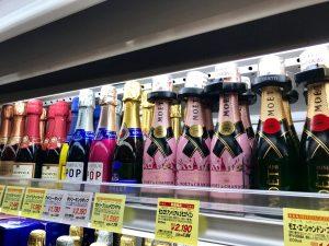 1/4ボトルのシャンパン