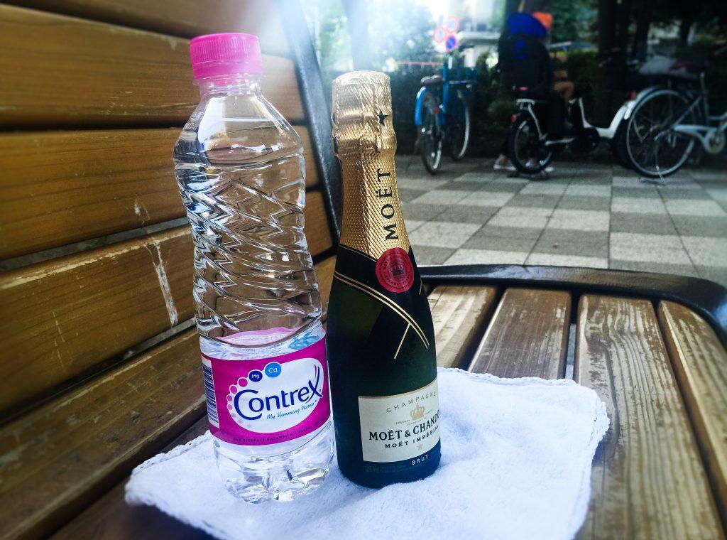 シャンパンとコントレックス